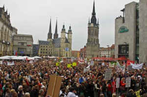 Halle bleibt , Demo, Ton AVS Veranstaltungsservice Halle